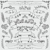 image of ribbon decoration  - Hand Drawn Black Doodle Design Elements - JPG