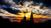 picture of gozo  - Gozo church on sunset background - JPG