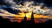 pic of gozo  - Gozo church on sunset background - JPG