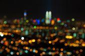 pic of kuala lumpur skyline  - Blurred lights of Kuala Lumpur skyline - JPG