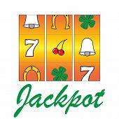 image of poker machine  - casino gamble machine  - JPG