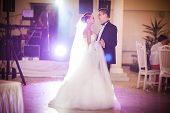 picture of night gown  - beautiful romantic first dance by wedding couple - JPG