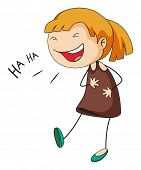 picture of up-skirt  - Close up girl with happy face laughing - JPG