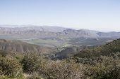foto of anza  - Anza Borrego desert landscape of mountain range and field - JPG