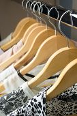picture of wardrobe  - row of white dress in wardrobe at home  - JPG