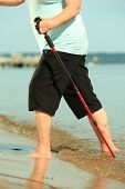 foto of barefoot  - active mature lifestyle - JPG