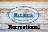 image of marijuana  - Marijuana Concept Sign  - JPG