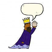 picture of three kings  - one of the three wise men with speech bubble - JPG