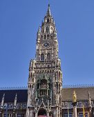 picture of bavaria  - the tower of the town hall Munich - JPG