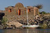 Felucca sailboat ride on Nile River near Aswan, Egypt