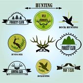 image of duck-hunting  - Hunting club label collecton - JPG