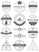 stock photo of mass media  - Vector collection of photography and videography logo templates - JPG