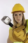 Angry Construction Teen