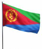 stock photo of eritrea  - Eritrea flag waving image isolated on white - JPG