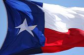 image of texas flag  - Flag of the State of Texas Waving in the Wind - JPG