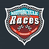pic of street-rod  - Motorcycle Thrilling Races Badge T - JPG