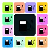 picture of petrol  - Petrol Icon color set vector illustration  - JPG