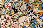 Ceramic Tile Background In Barcelona Spain