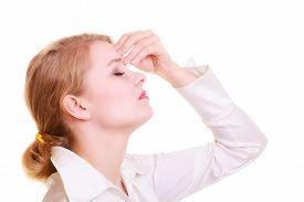 image of sinuses  - Headache migraine and sinus ache - JPG