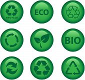 Green Environment And Recycle Icons