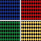 Seamless Harlequin Pattern, Black