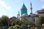 stock photo of rumi  - The convent of Mevlana in Konya (Mevlana Tomb) of Mevlana Museum.