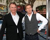 LOS ANGELES - SEP 19:  Sam Neill, David Wenham arrive at the Legend of the Guardians: The Owls of Ga