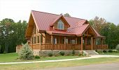 picture of hughes  - Side view of the front of a beautiful country cabin - JPG