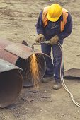 Welder Worker With Cutting Torch 5 poster