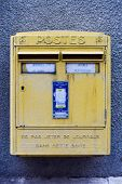 French Post Box - Bourges, France poster