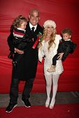 LOS ANGELES - NOV 28:  Tito Ortiz, Jenna Jameson, their children Jesse and Journey arrive at the 201