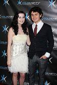 LOS ANGELES - DEC 14:  Jillian Clare, Brett DelBuono attend the