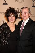 BEVERLY HILLS -  JAN 20:  Carol Bayer Sager and Bob Daly arrive at the ATAS Hall of Fame Committee's