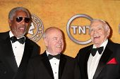 LOS ANGELES - JAN 30:   Morgan Freeman, Tim Conway, Ernest Borgnine in the Press Room at the 2011 Sc