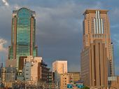 Osaka City At Dusk