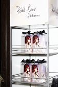 LOS ANGELES - FEB 18:  Display for 'Reb?l Fleur' at the Instore Appearance for her Fragrance Launch