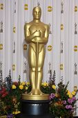 LOS ANGELES -  FEB 27: The Oscar statue stands in the Press Room at the 83rd Academy Awards at Kodak
