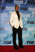 LOS ANGELES -  4: Aaron D. Spears in the Press Room of the 42nd NAACP Image Awards at Shrine Auditor