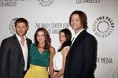 LOS ANGELES - MAR 13:  Jensen Ackles, Danneel Harris Ackles, Genevieve Cortese and Jared Padalecki a