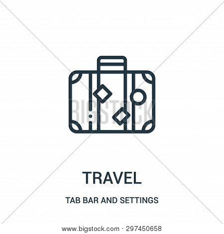 poster of Travel Icon Isolated On White Background From Tab Bar And Settings Collection. Travel Icon Trendy An