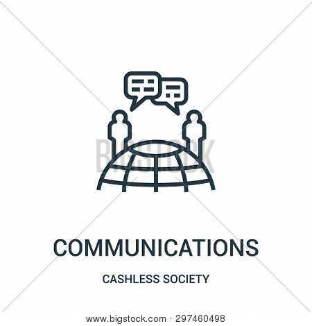 poster of Communications Icon Isolated On White Background From Cashless Society Collection. Communications Ic