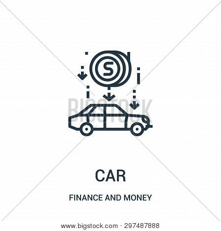 poster of Car Icon Isolated On White Background From Finance And Money Collection. Car Icon Trendy And Modern