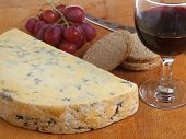 Stilton cheese with port wine, Shallow DoF, focus on centre of image.