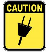 Electrical Outlet Caution Sign