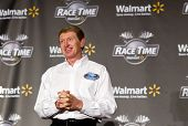 CONCORD, NC - JAN. 26: NASCAR Sprint Cup champion, Bill Elliott takes questions from the media durin