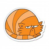 sticker of a cartoon grumpy cat poster