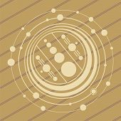 picture of unexplained  - ufo crop circles design in wheat - JPG