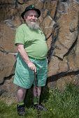 Leprechaun And Brown Rock Wall