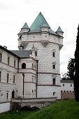 tower of renaissance casttle in Krasiczyn
