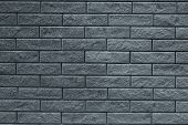 Abstract Gray Pattern Of Brick Wall Background. Light Grey Stone Background. Grey Bricks Texture Bac poster
